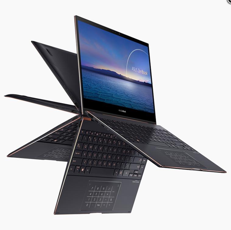 Laptop Asus Zenbook Flip S UX371EA HL701TS (Black) | i7-1165G7 Gen 11th | 16GB DDR4 | SSD 1TB PCIe | VGA Onboard | 13.3 UHD IPS OLED & Touch | Win10.