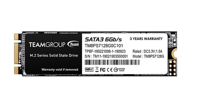 Team - SSD 128GB M.2 Sata3 for laptop. Model: MS30