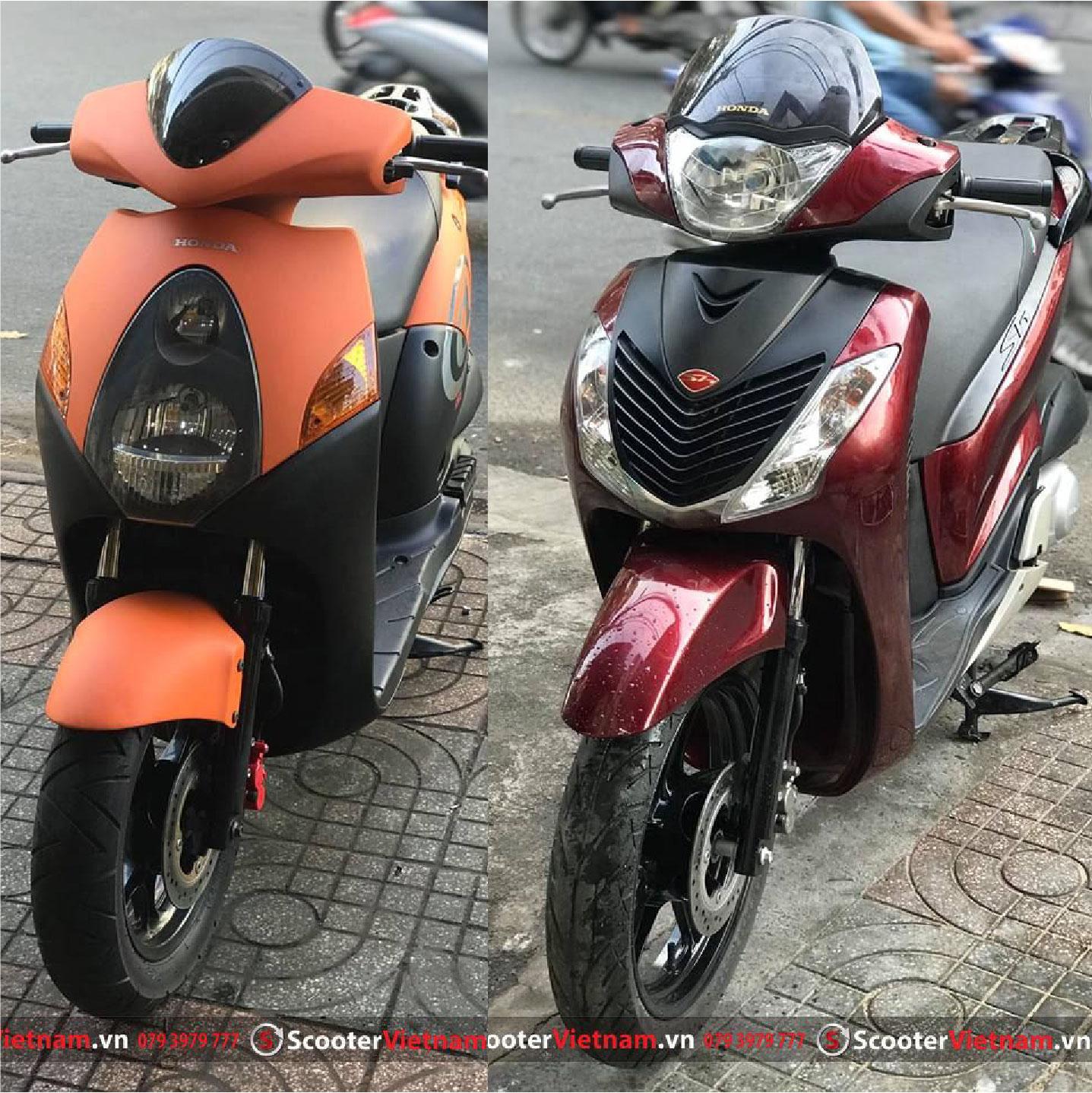 Combo Độ Xe @ lên Sh 2010-2012 Dzin màu đỏ đô đẹp đẳng cấp tại Scooter Việt Nam
