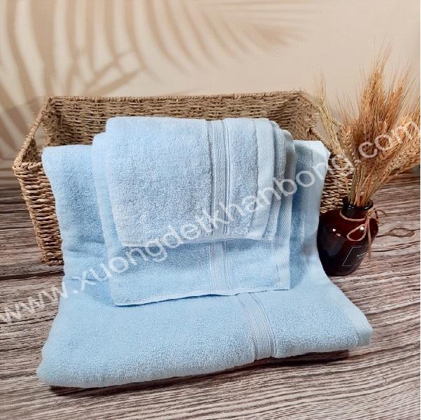 Bộ 3 khăn cotton màu xanh ngọc