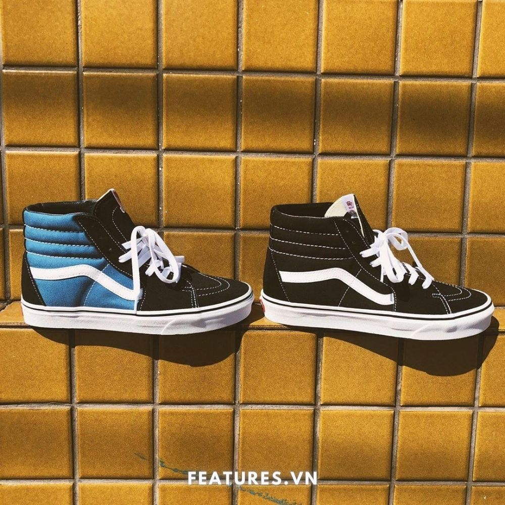 Vans Sk8 High Black and Navy
