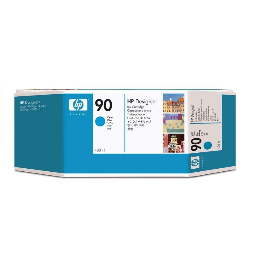 Mực in phun màu HP 90 400-ml Cyan Cartridge (C5061A)