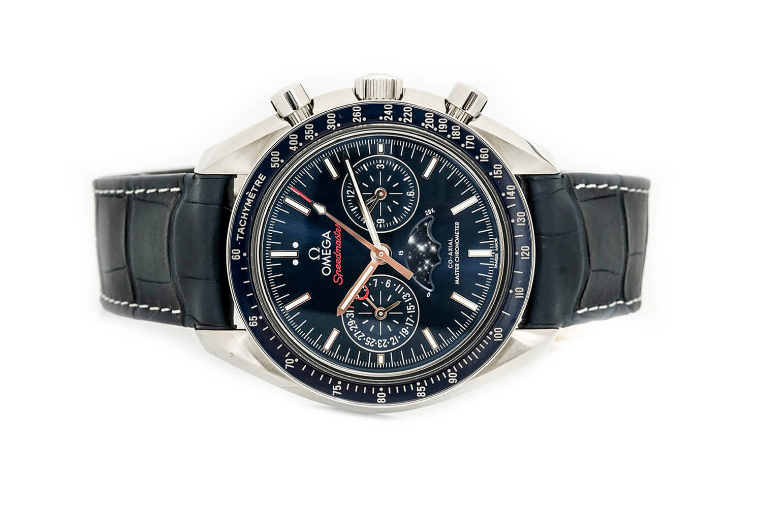 Omega  Speedmaster Moonwatch Co-Axial Master Chronometer Moonphase Chronograph 44.25mm 304.33.44.52.03.001