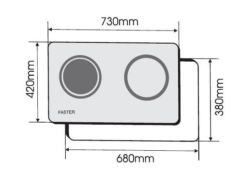 BẾP ĐIỆN TỪ FASTER FS 744HM 4