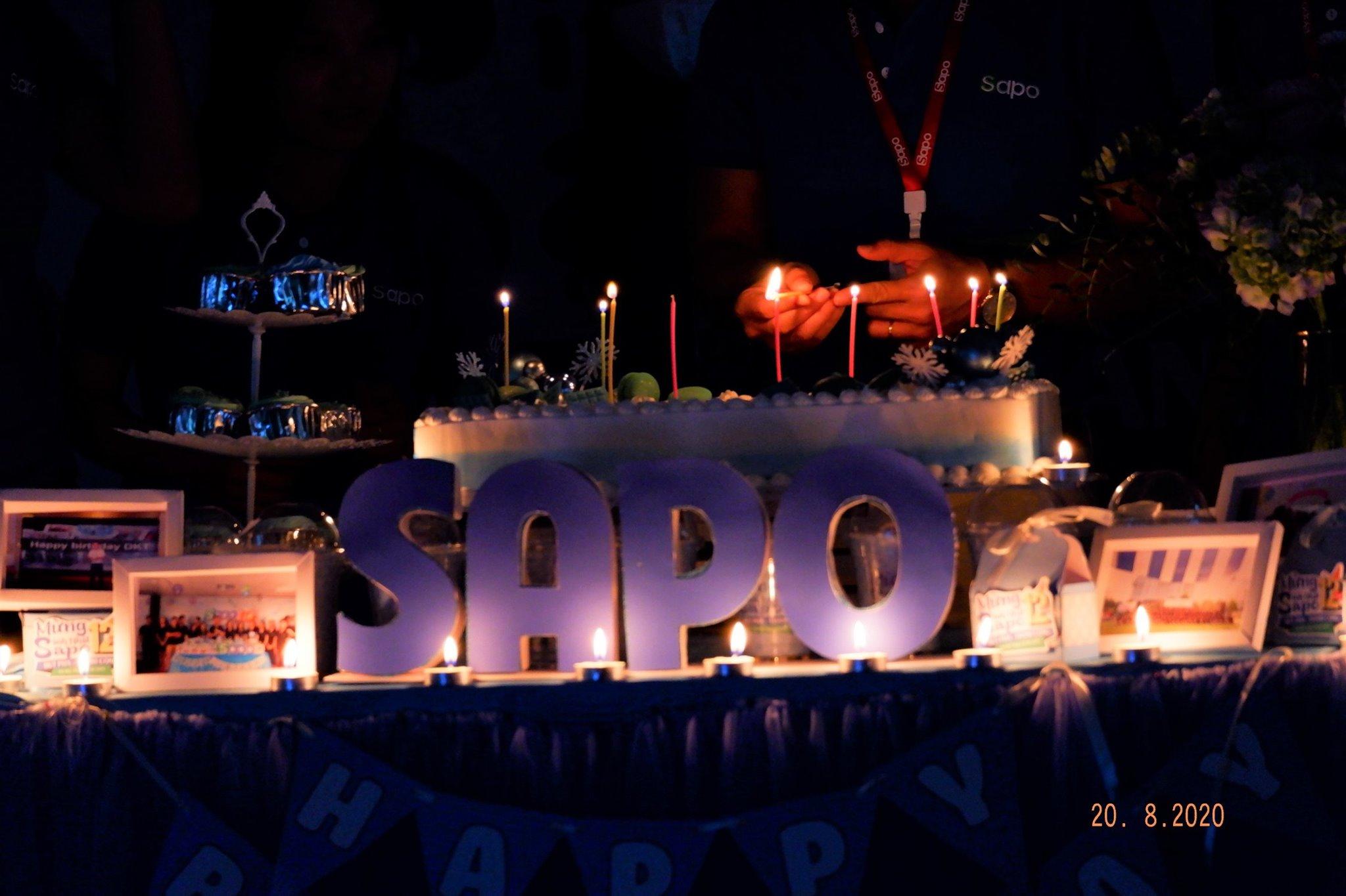 Khoảnh khắc sinh nhật của Sapo lần thứ 12 tại 3 miền.