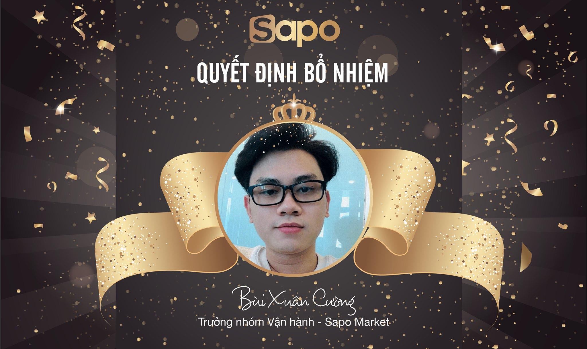 Quyết định bổ nhiệm vị trí Trưởng nhóm vận hành - Dự án Sapo Market.