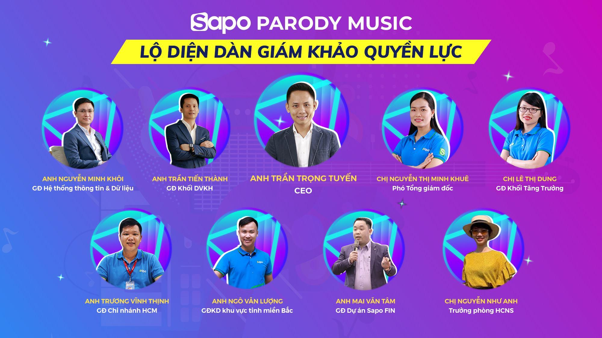 Lộ diện dàn giám khảo quyền lực của cuộc thi Sapo Parody Music