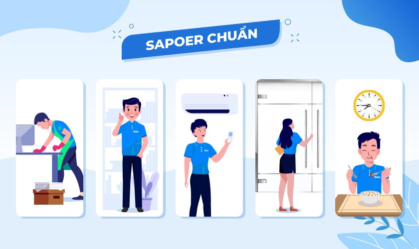 Checklist quy định 5S tại Sapo