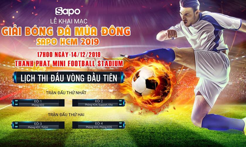 Lịch thi đấu vòng 2 giải bóng đá mùa Đông HCM