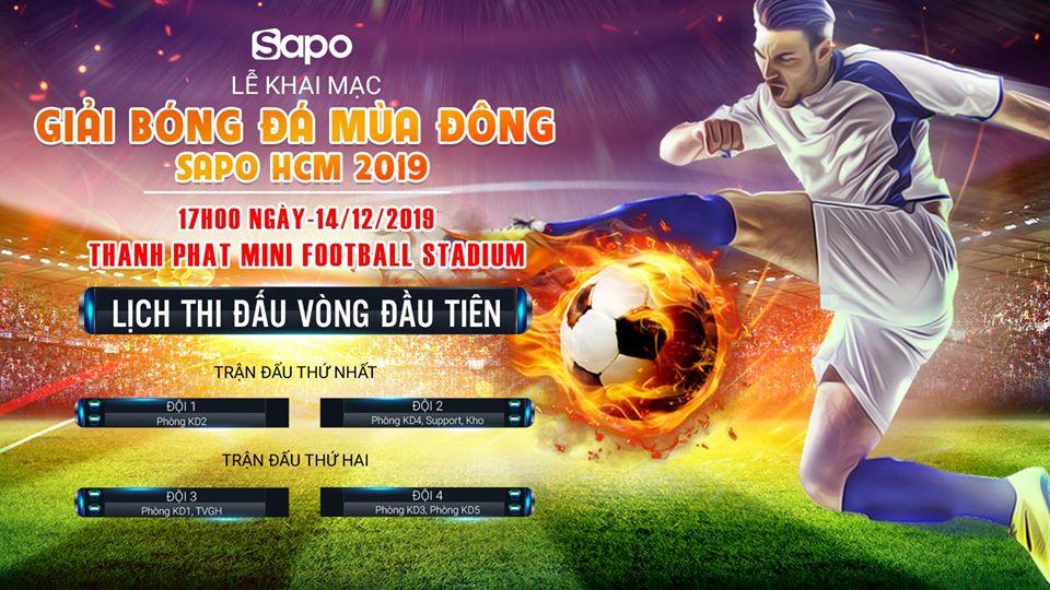 Khai mạc giải bóng đá mùa Đông Sapo HCM 2019