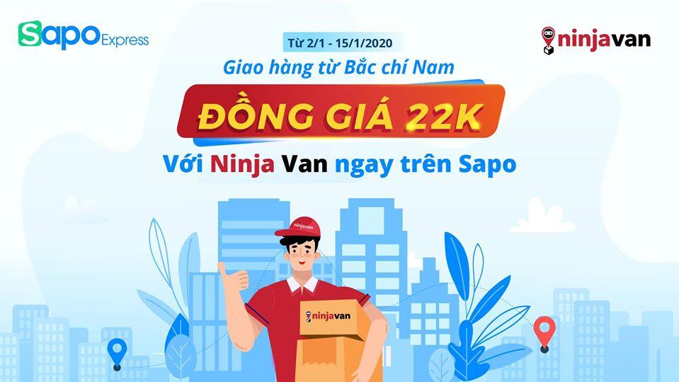 """Sapo Express chào mừng Ninja Van gia nhập """"biệt đội ship siêu rẻ"""