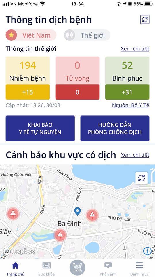 Thông báo: Sapoer NÊN cài ngay app NCOVI