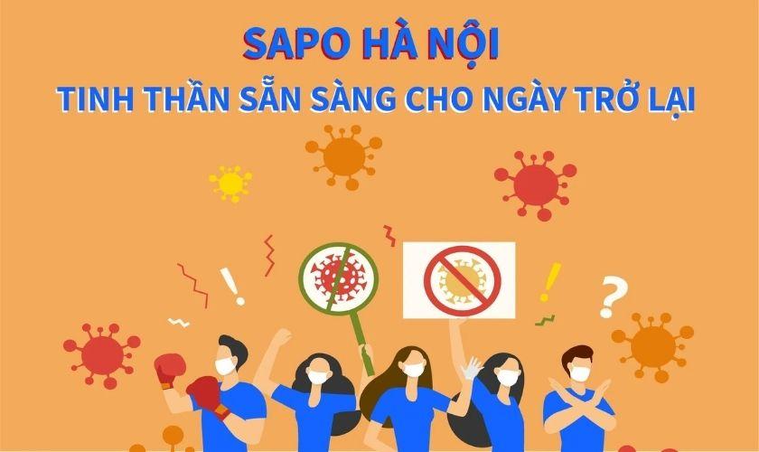 Sapo Hà Nội: Tinh thần sẵn sàng quay trở lại làm việc tại văn phòng từ ngày 21/09