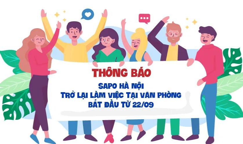 Sapo Hà Nội chính thức quay trở lại văn phòng làm việc
