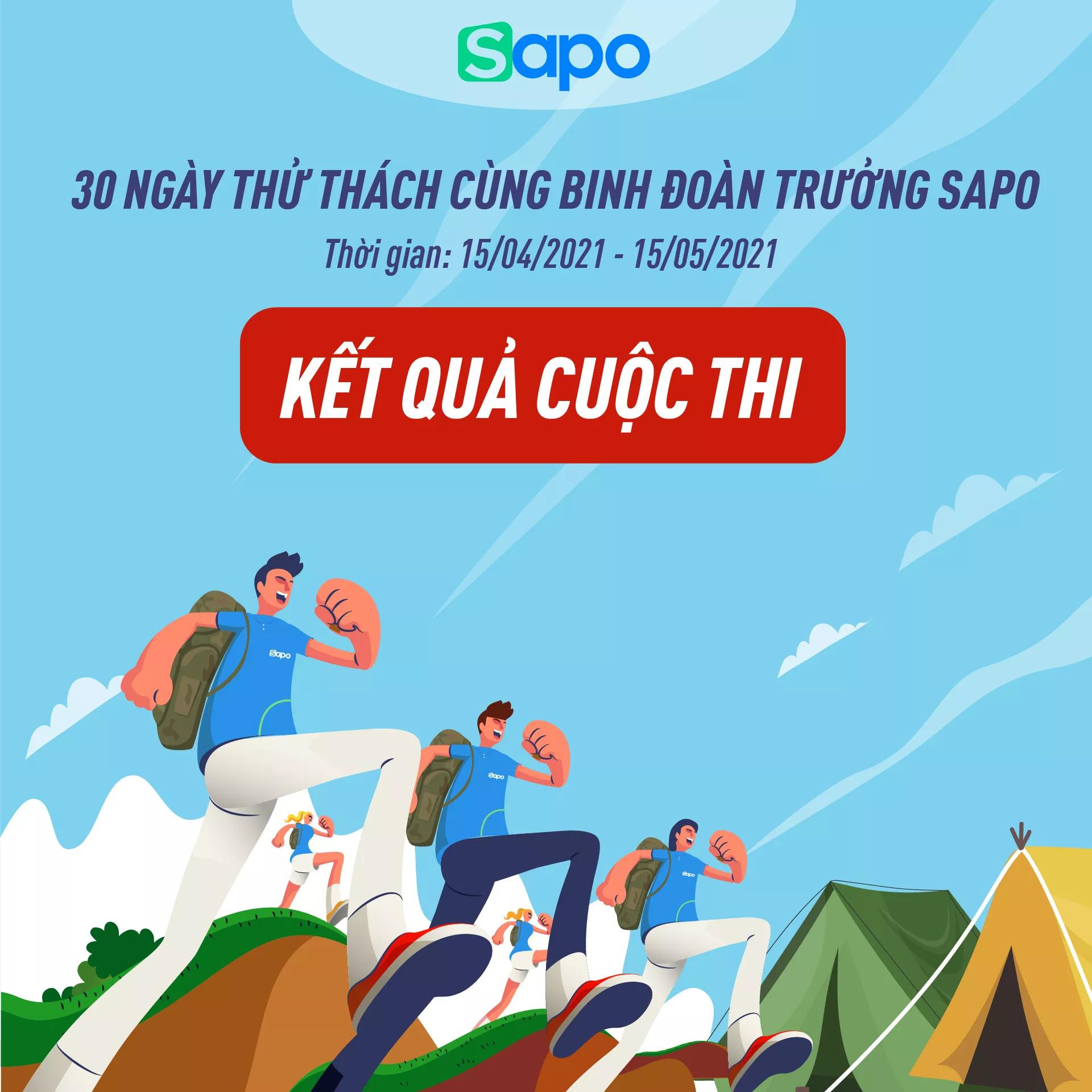 Kết quả cuộc thi: 30 ngày thử thách cùng binh đoàn trưởng Sapo 2021