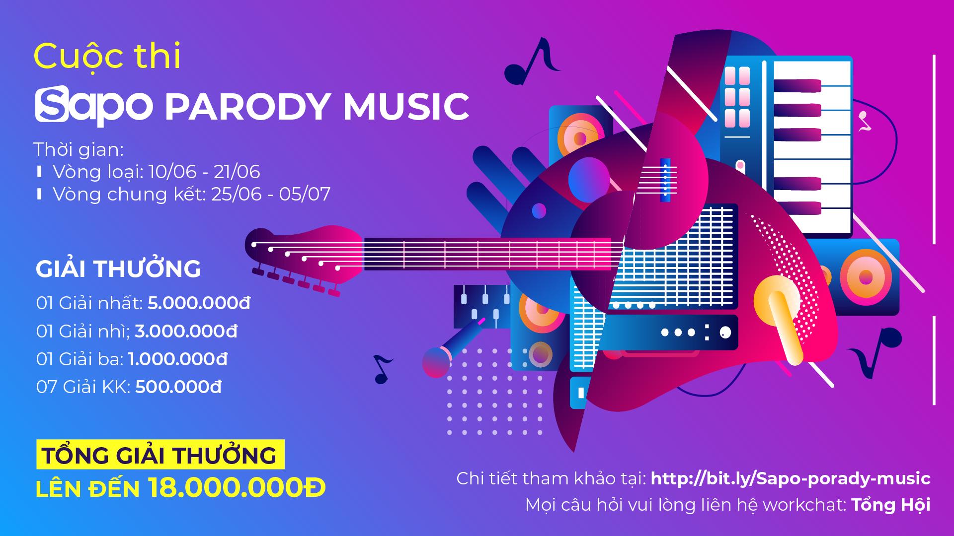 Siêu hot cùng cuộc thi: SAPO PARODY MUSIC