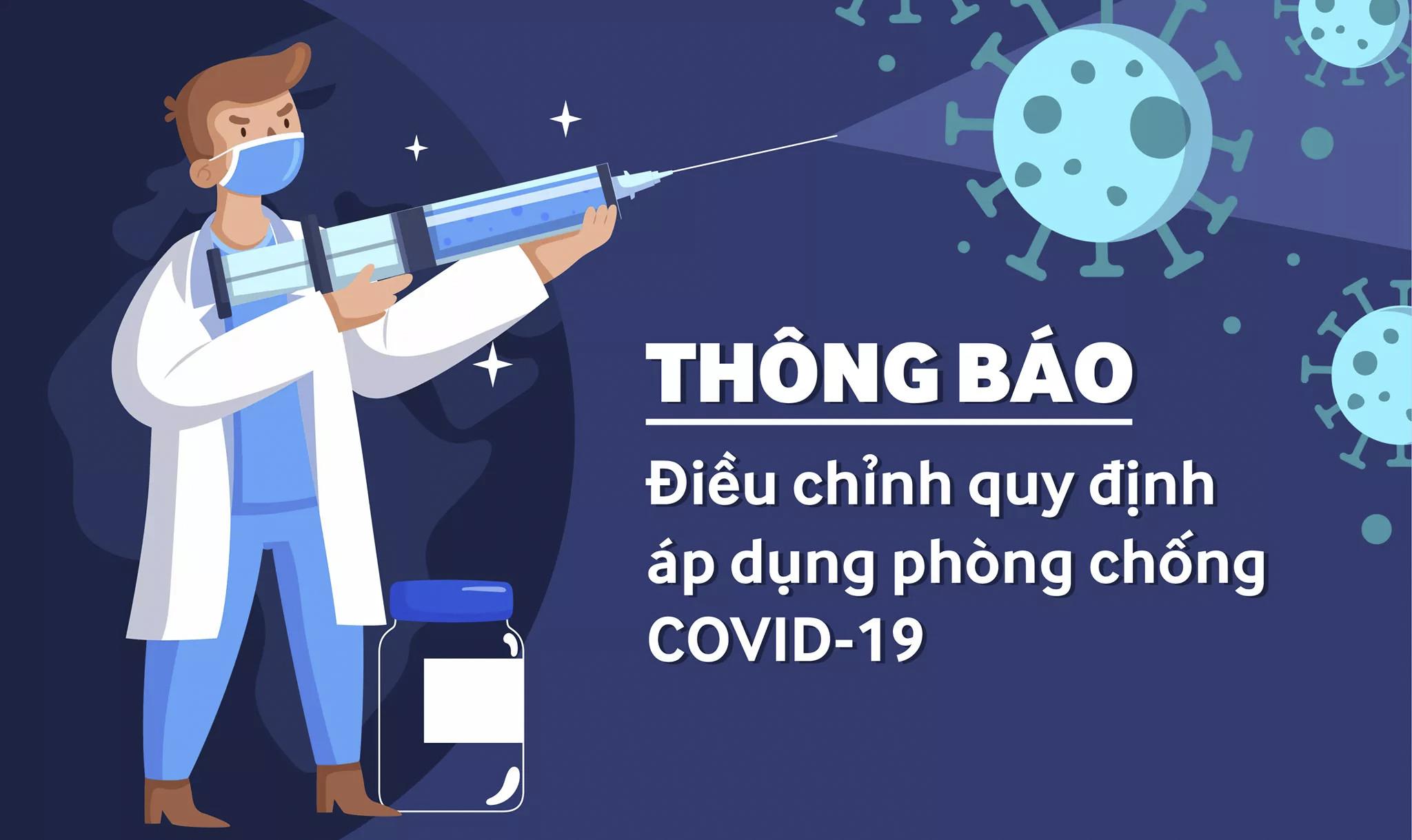 [Thông báo: Điều chỉnh quy định phòng chống dịch Covid-19]