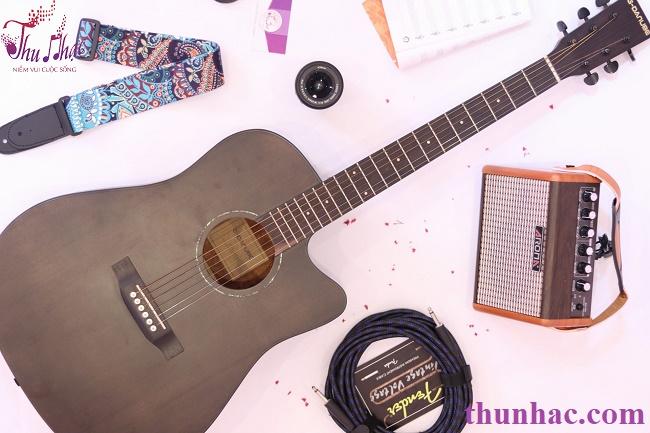 Đàn guitaracoustic g-danube khuyết gỗ