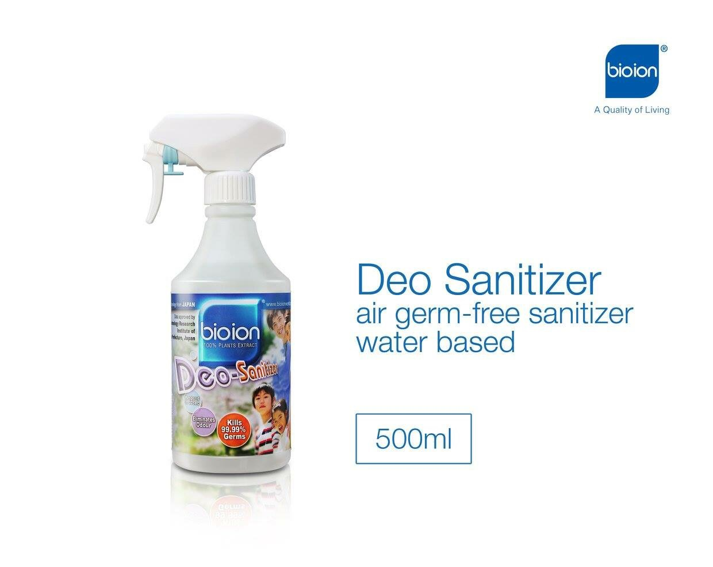 Chai Xịt Khử Trùng, Khử Khuẩn, Khử Mùi Deo Sanitizer 500ml BIOION