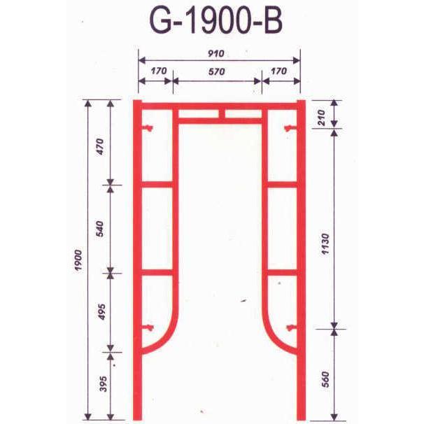 Khung giáo G-1900-B