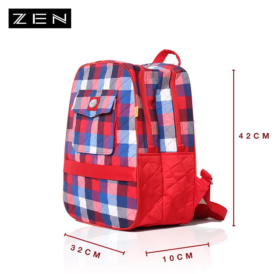 Ba lô vải nhiều màu ZEN 32x42x10cm