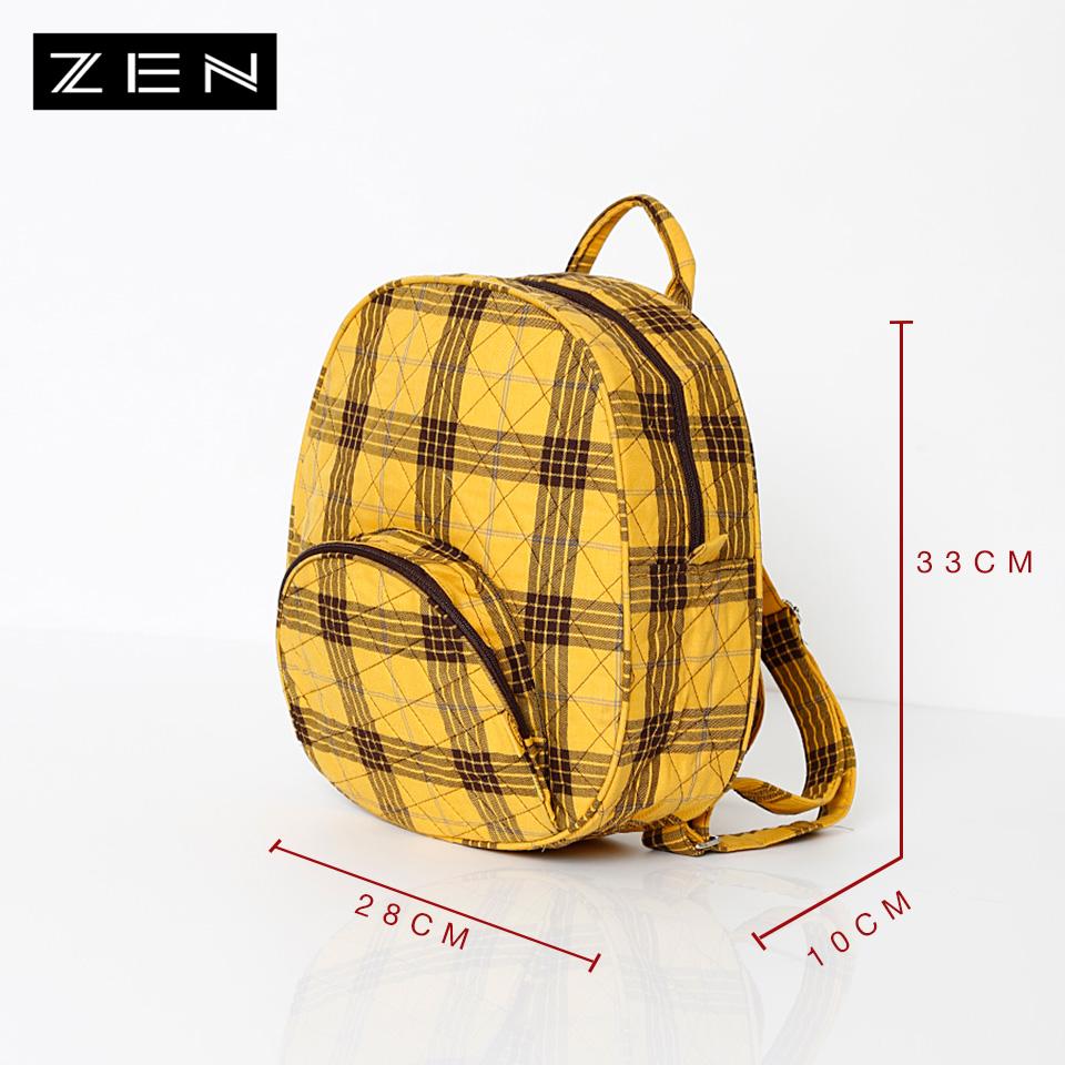 Ba lô vải nhiều màu ZEN 28x33x10cm