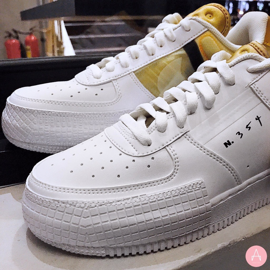 [AT7859-100] M NIKE AIR FORCE 1 TYPE WHITE GOLD