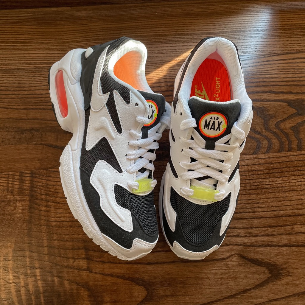 [CK2602-001] W NIKE AIR MAX2 LIGHT BLACK/WHITE/ORANGE