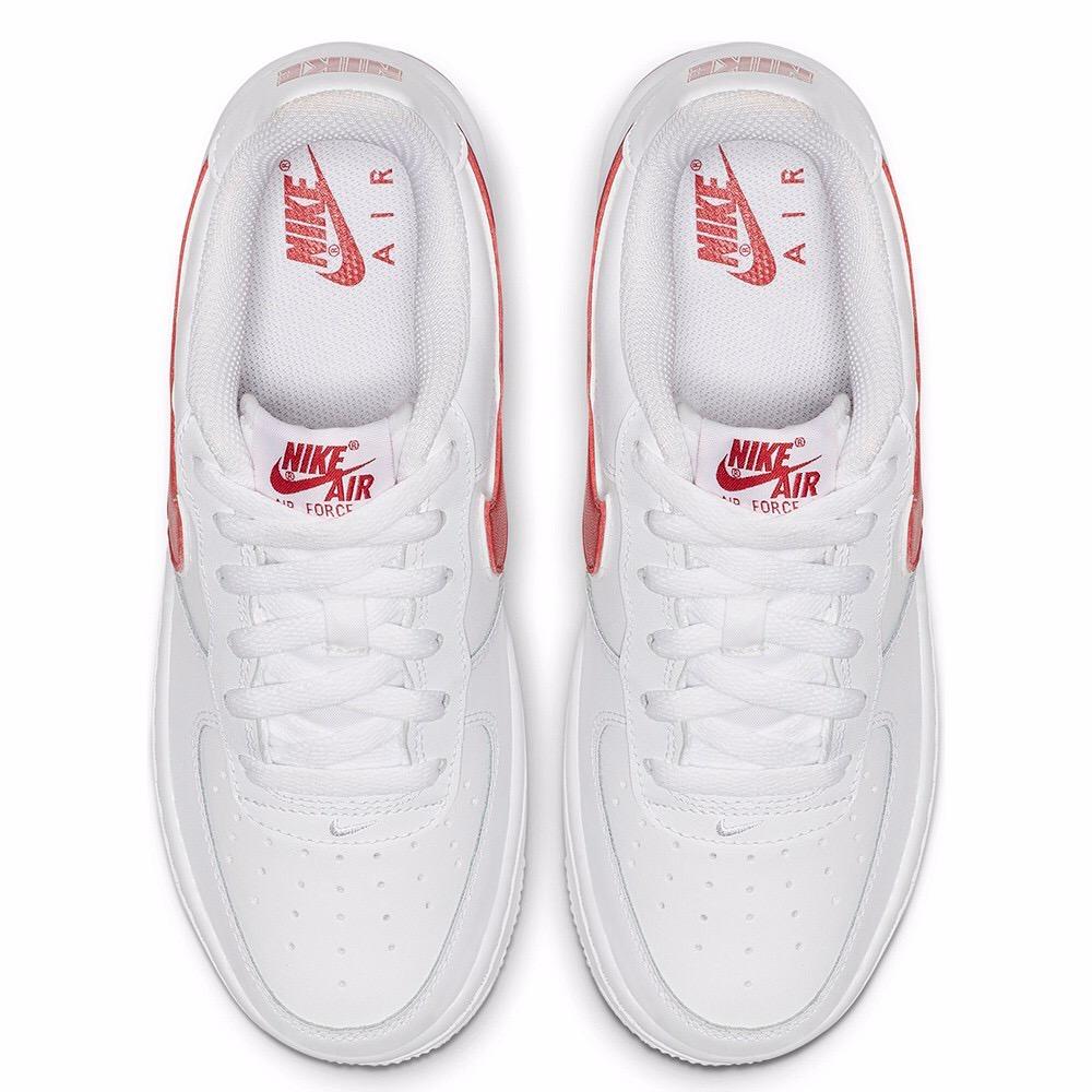 [AV6252-101] K NIKE AIR FORCE 1-3 WHITE RED