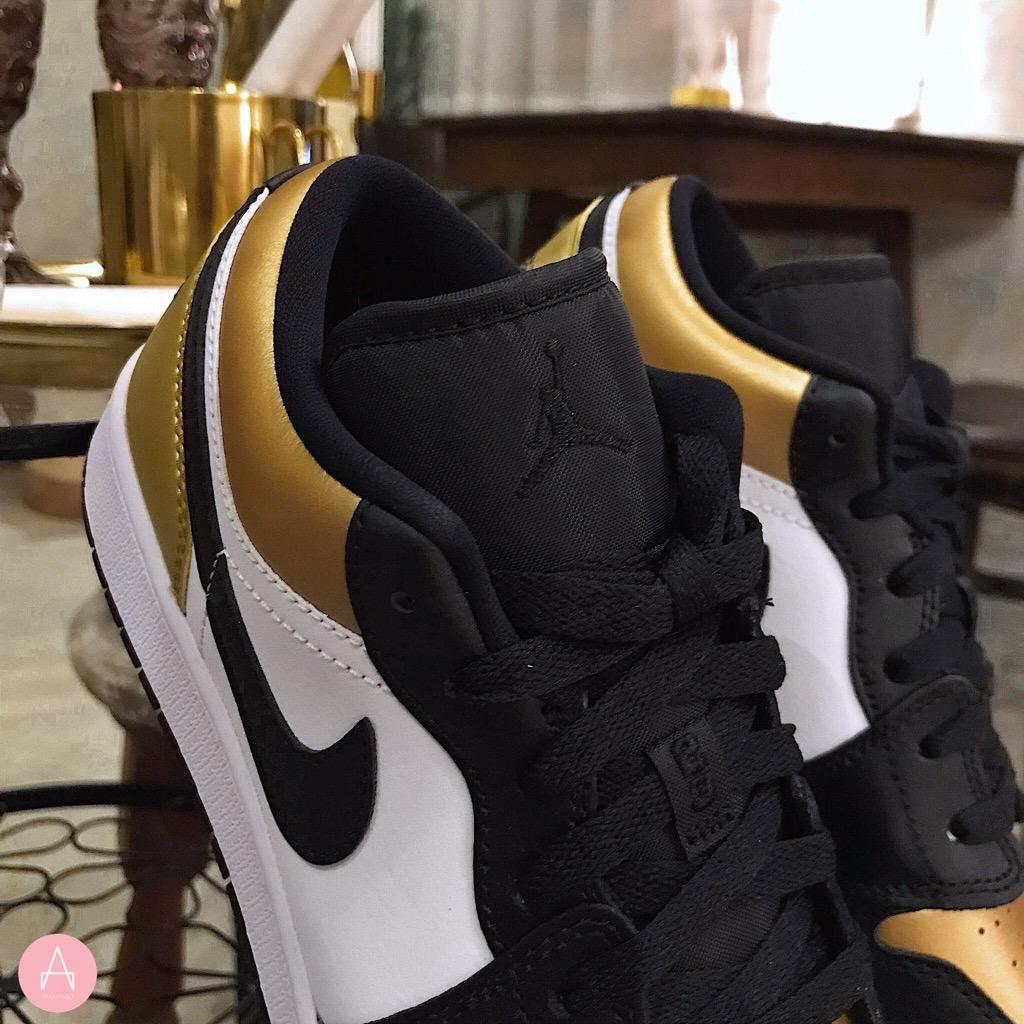 [CQ9487-700] K NIKE AIR JORDAN 1 LOW GOLD TOE