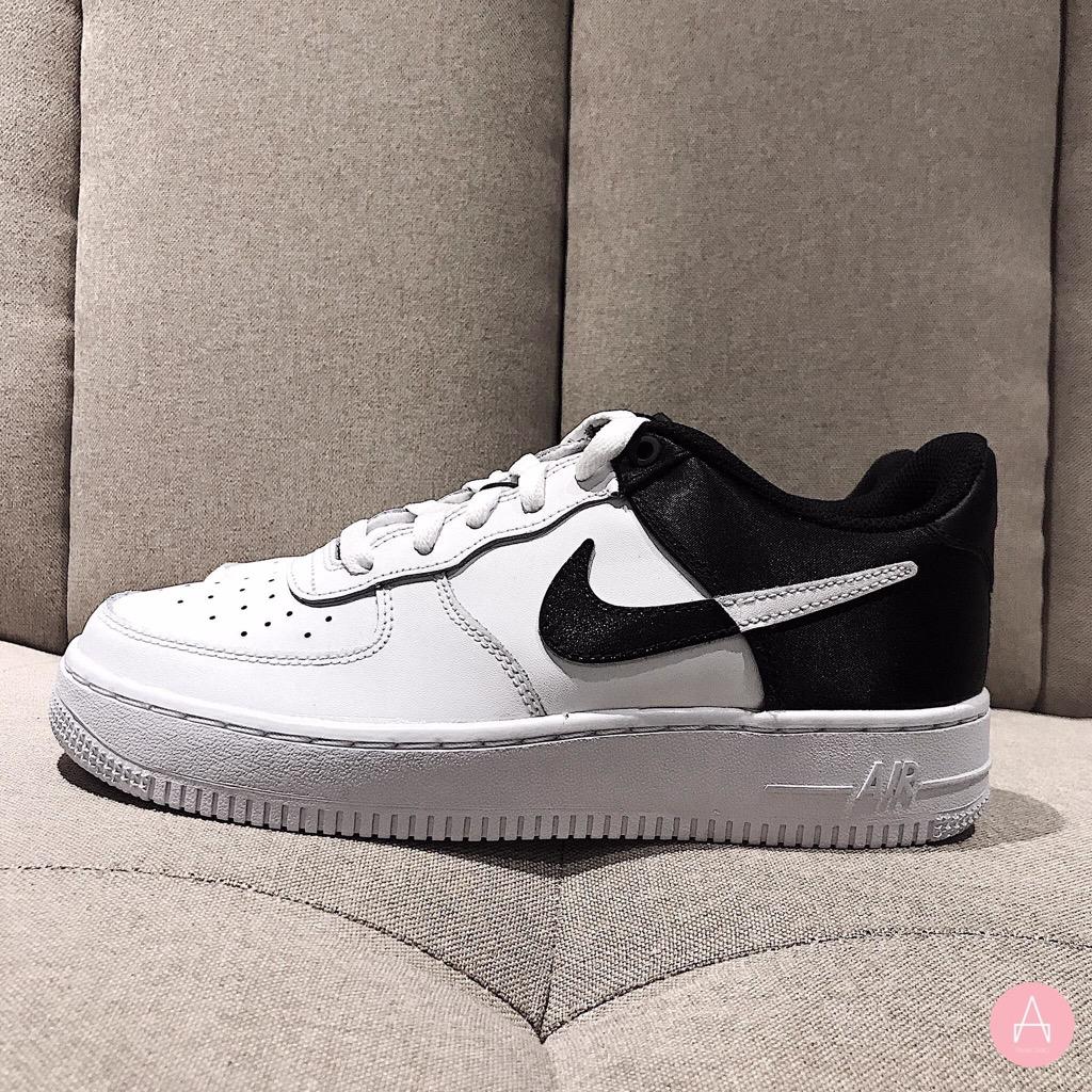[CK0502-100] K NIKE AIR FORCE 1 LV8 WHITE BLACK
