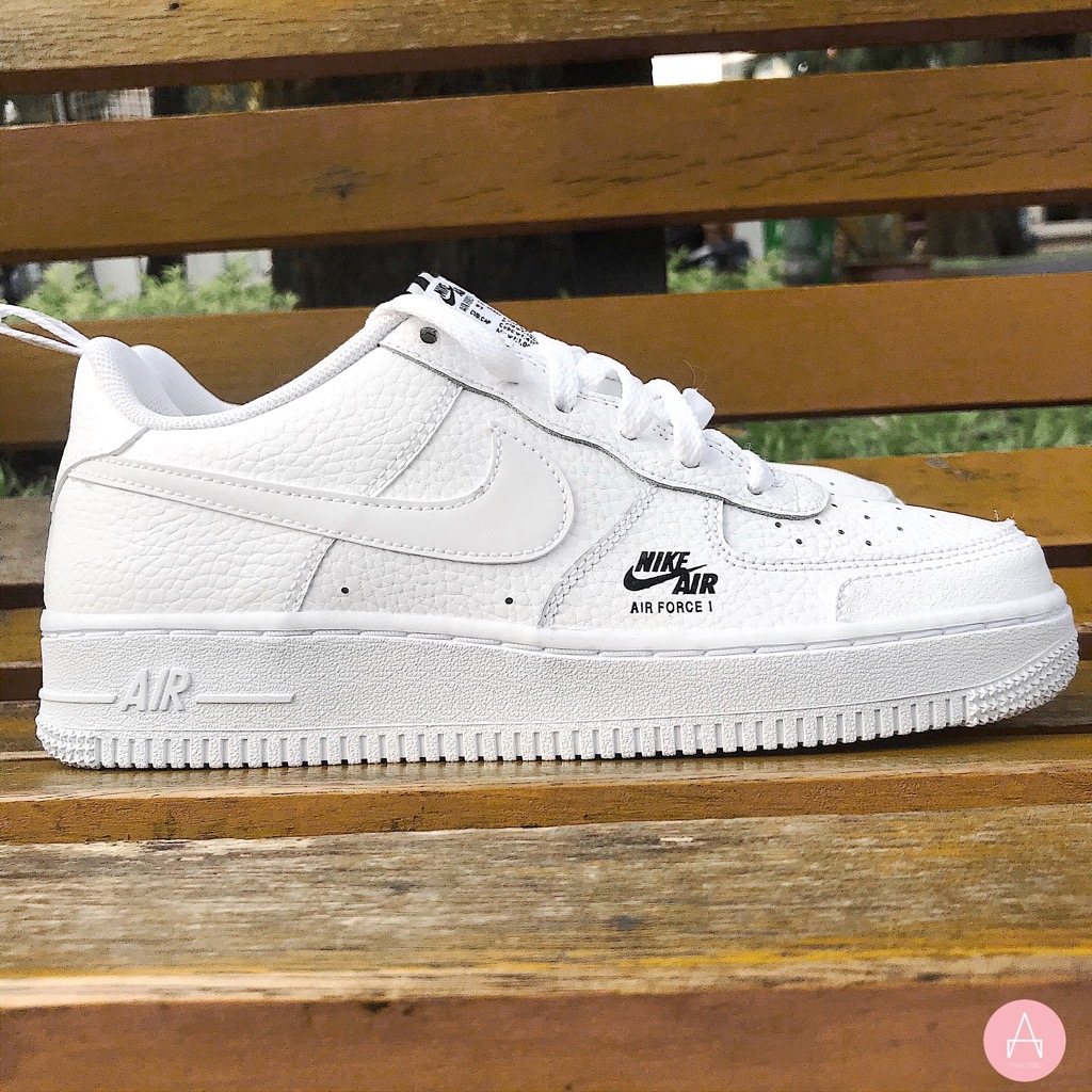 [CV9604-100] K NIKE AIR FORCE 1 LOW ULTILITY WHITE