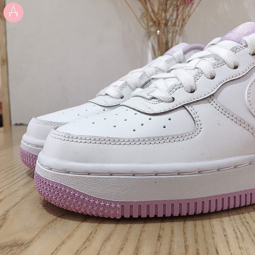 [CD6915-100] K NIKE AIR FORCE 1-1 WHITE PARTICLE ROSE