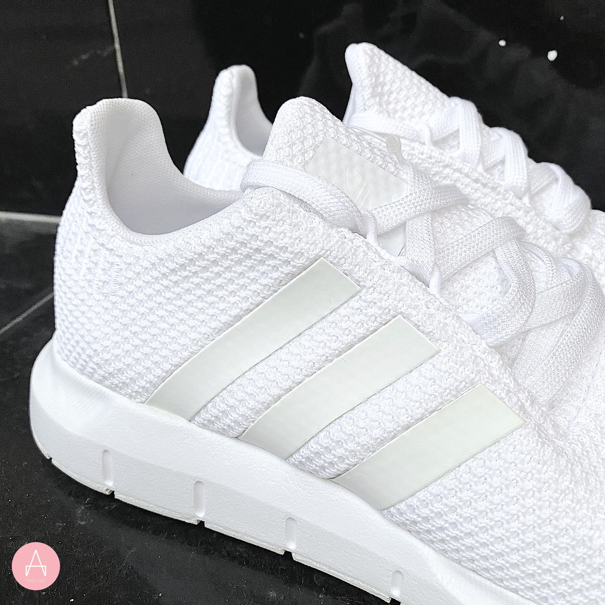 [F34315] K ADIDAS SWIFT RUN ALL WHITE