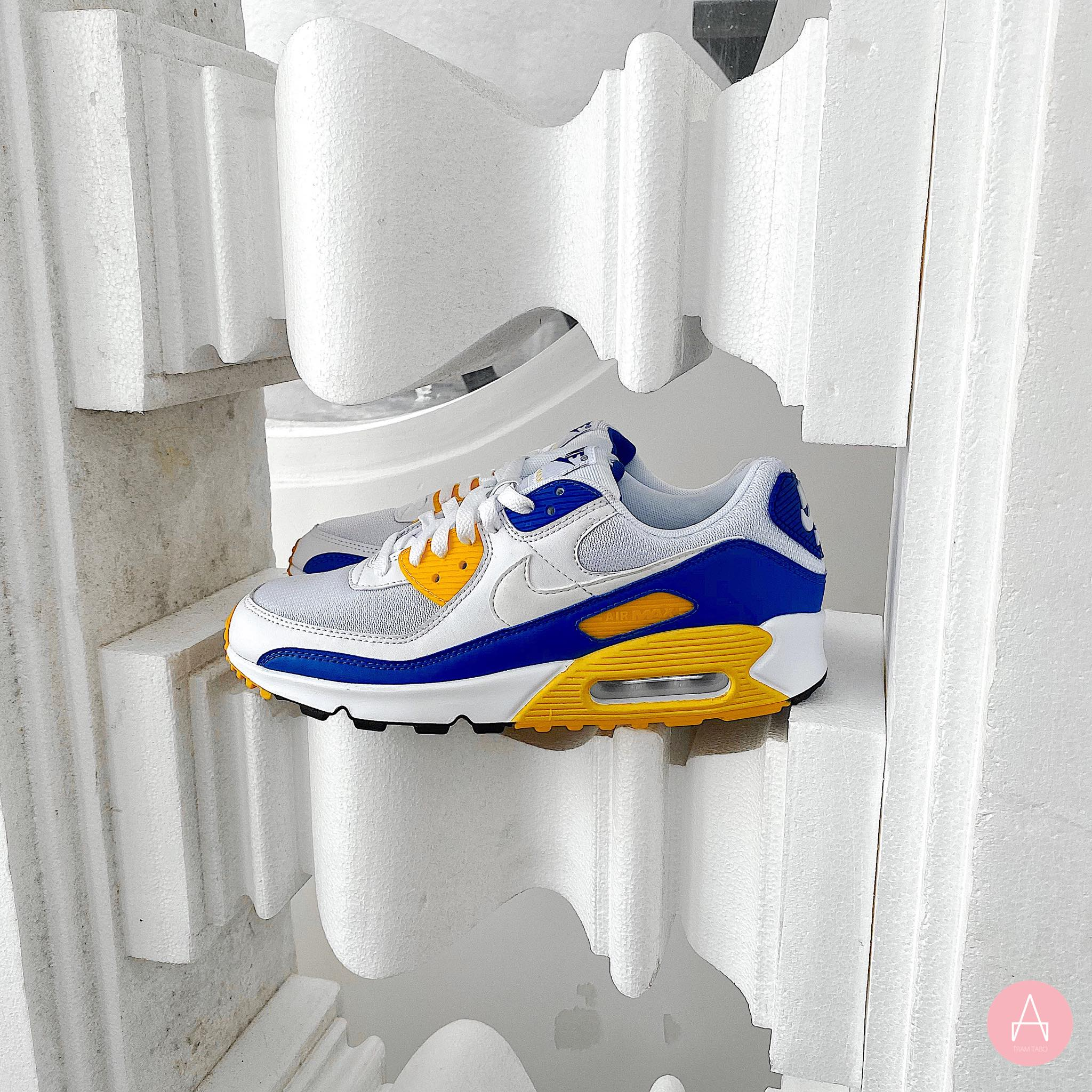[CT4352-101] M NIKE AIR MAX 90 WHITE/WHITE-VARSITY MAIZE
