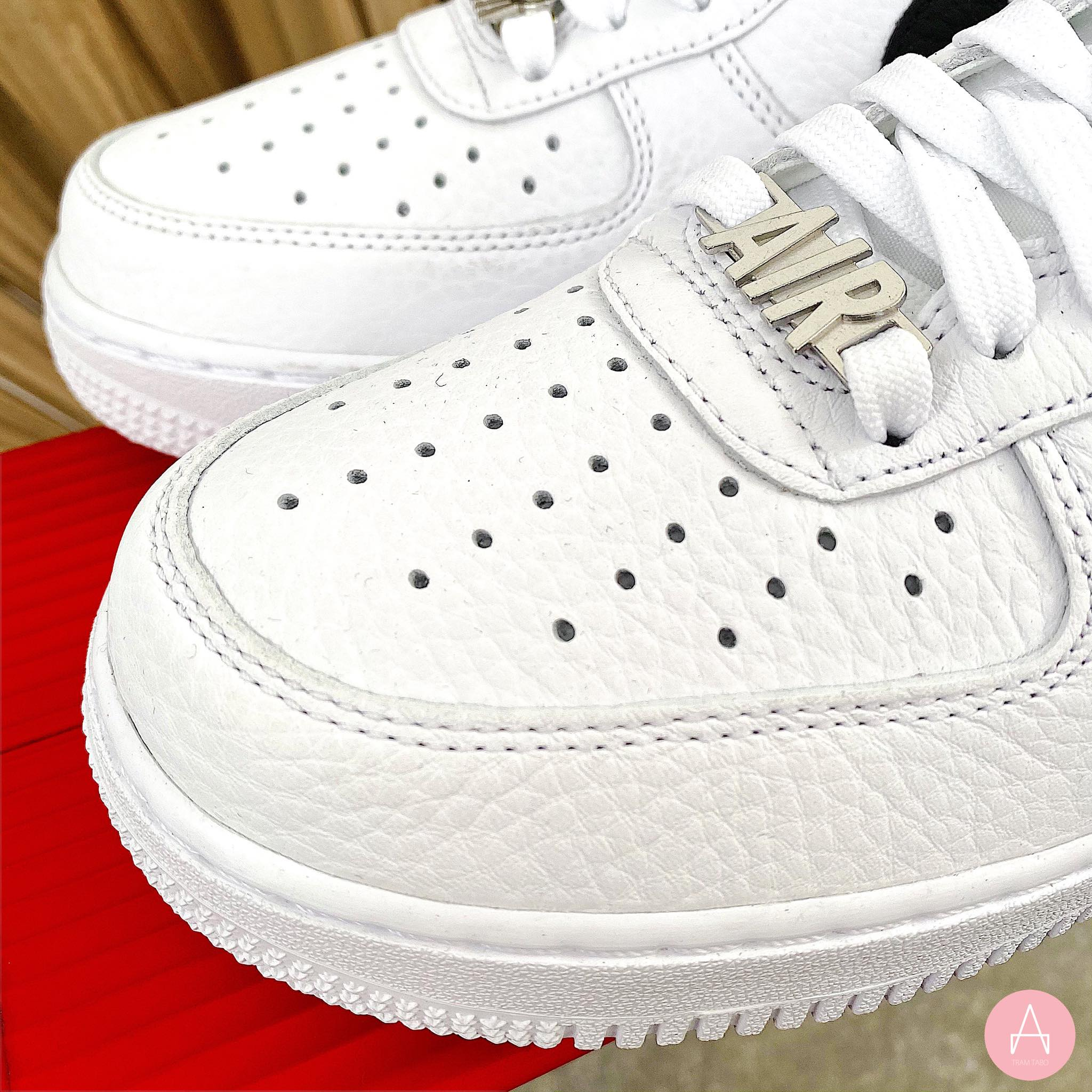 [CW6558-100] M NIKE AIR FORCE 1 LOW ZIP SWOOSH WHITE