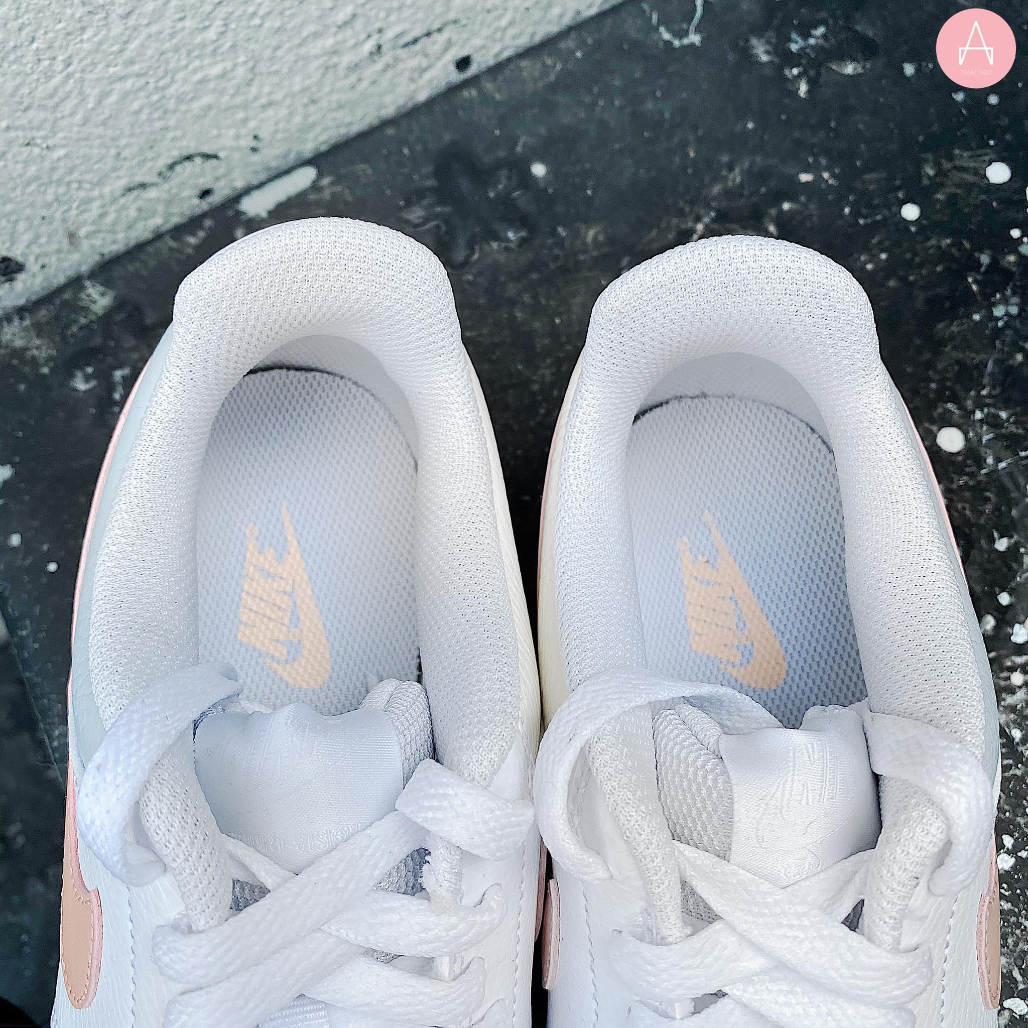 [CD5434-103] W NIKE COURT VISION LOW WHITE/WASHED CORAL-AURA
