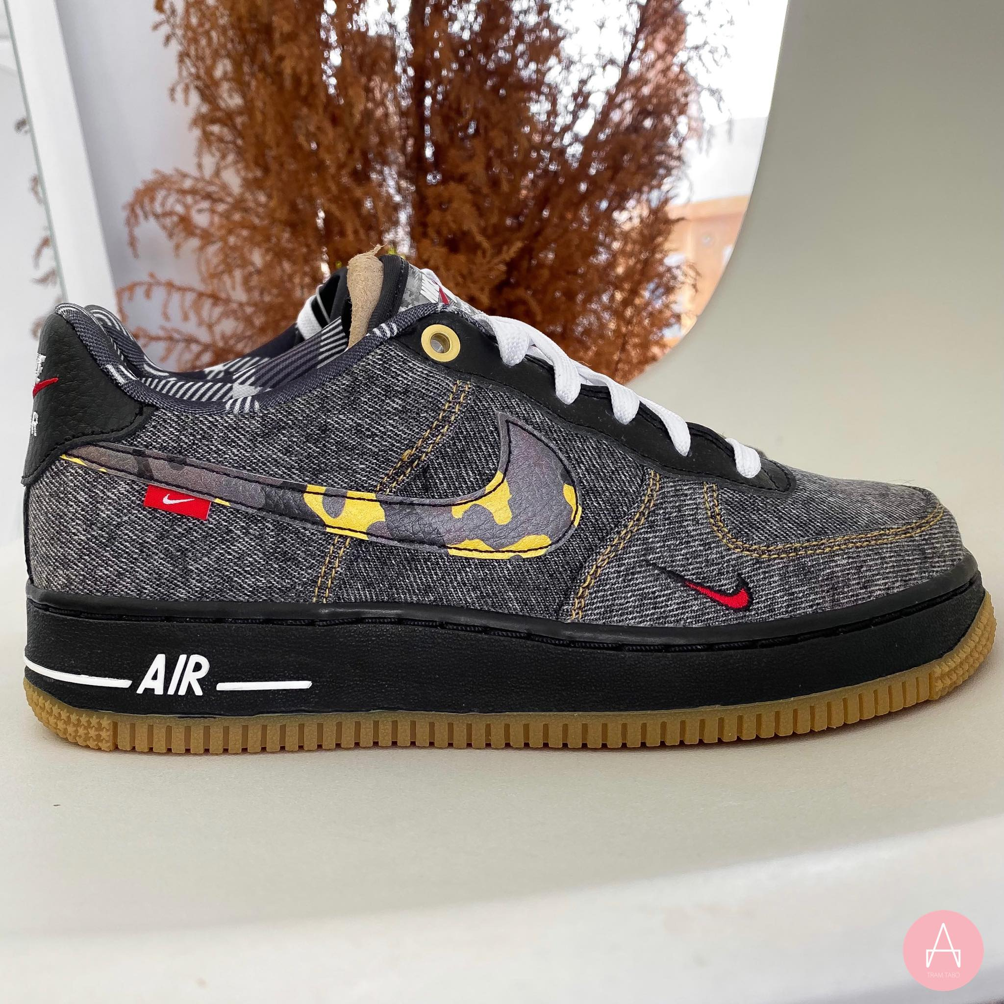 [DB1976-001] K NIKE AIR FORCE 1 LOW 'REMIX BLACK' BLACK/MULTI-COLOR