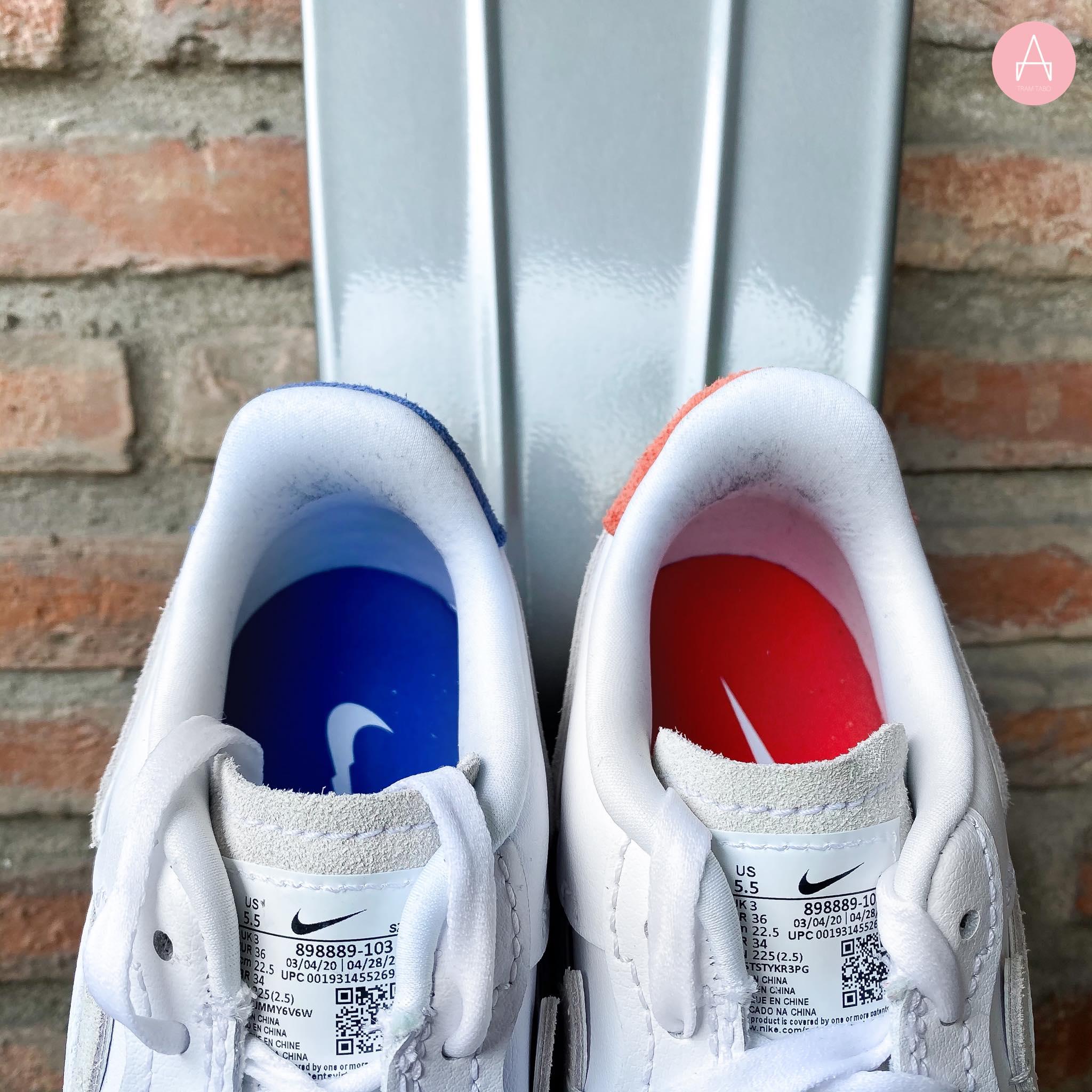 [898889-103] W NIKE AIR FORCE 1 LX VANDALIED WHITE/BLUE/RED