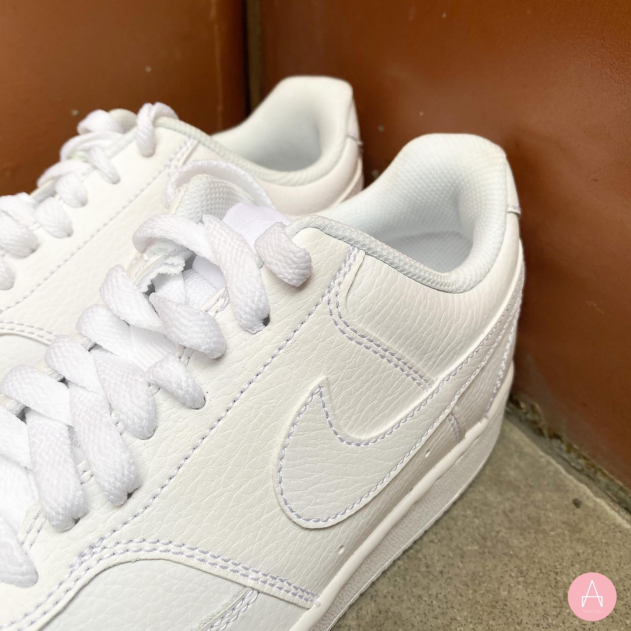 [CD5434-100] W NIKE COURT VISION LOW ALL WHITE