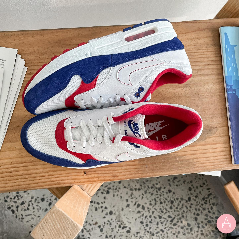 [CJ9927-100] M NIKE AIR MAX 1 WHITE RED BLUE