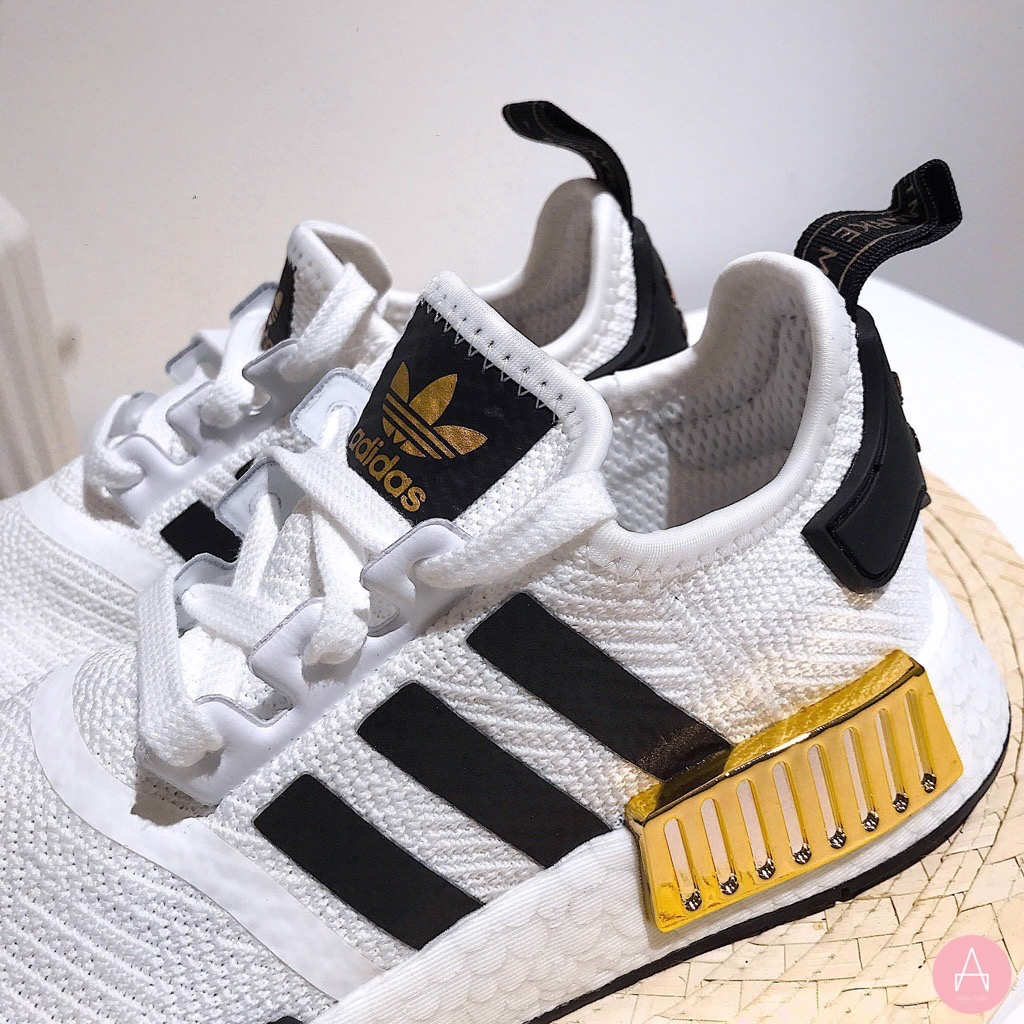 [EG5665] K ADIDAS NMD R1 METALLIC GOLD WHITE