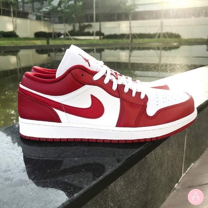 [553560-611] K NIKE AIR JORDAN 1 LOW GYM RED