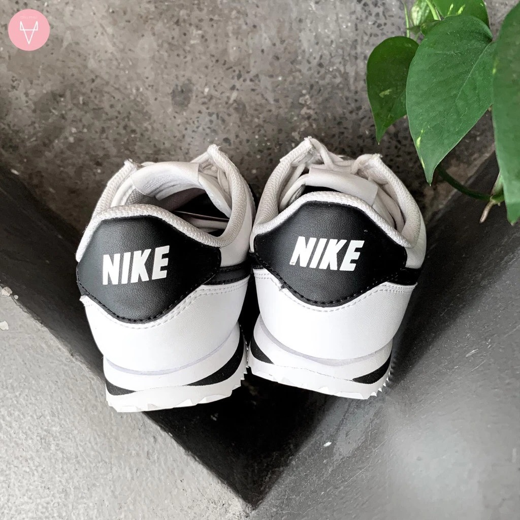 [904764-102] K NIKE CORTEZ BLACK WHITE