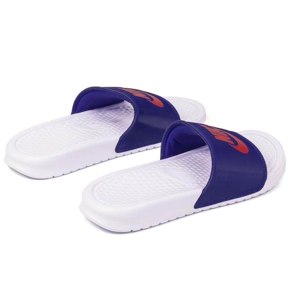 [343881-111] W NIKE BENASSI JDI WHITE UNIVERSITY RED ROYAL BLUE