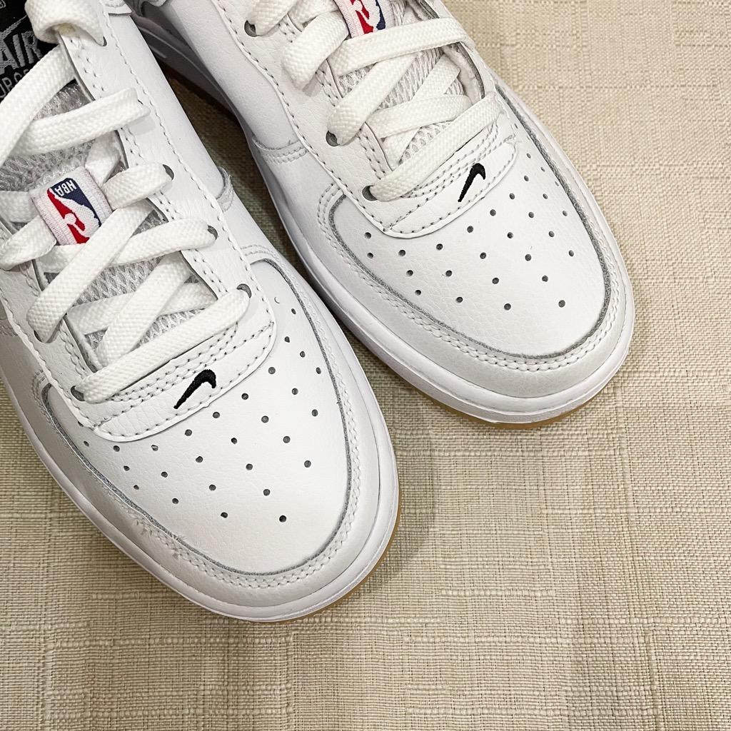 [CT3842-100] K NIKE AIR FORCE 1 NBA HO20 WHITE/GREY