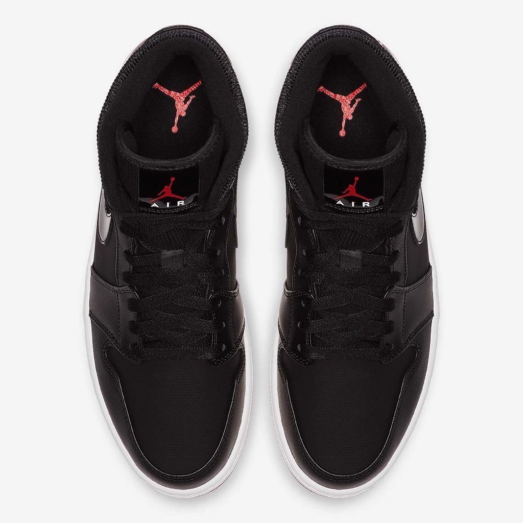 [BQ6578-001] M NIKE AIR JORDAN 1 MID RETRO BLACK RED