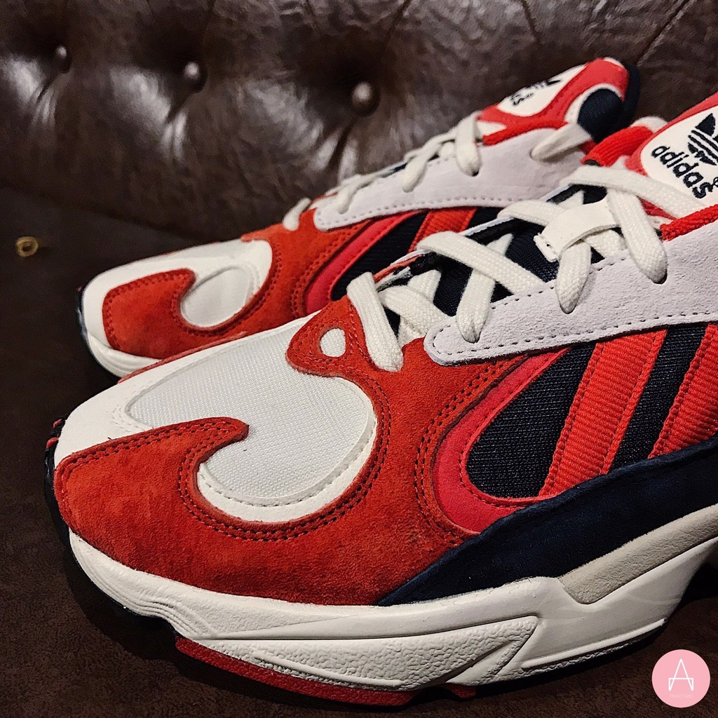 [B37615] M ADIDAS YUNG-1 WHITE RED