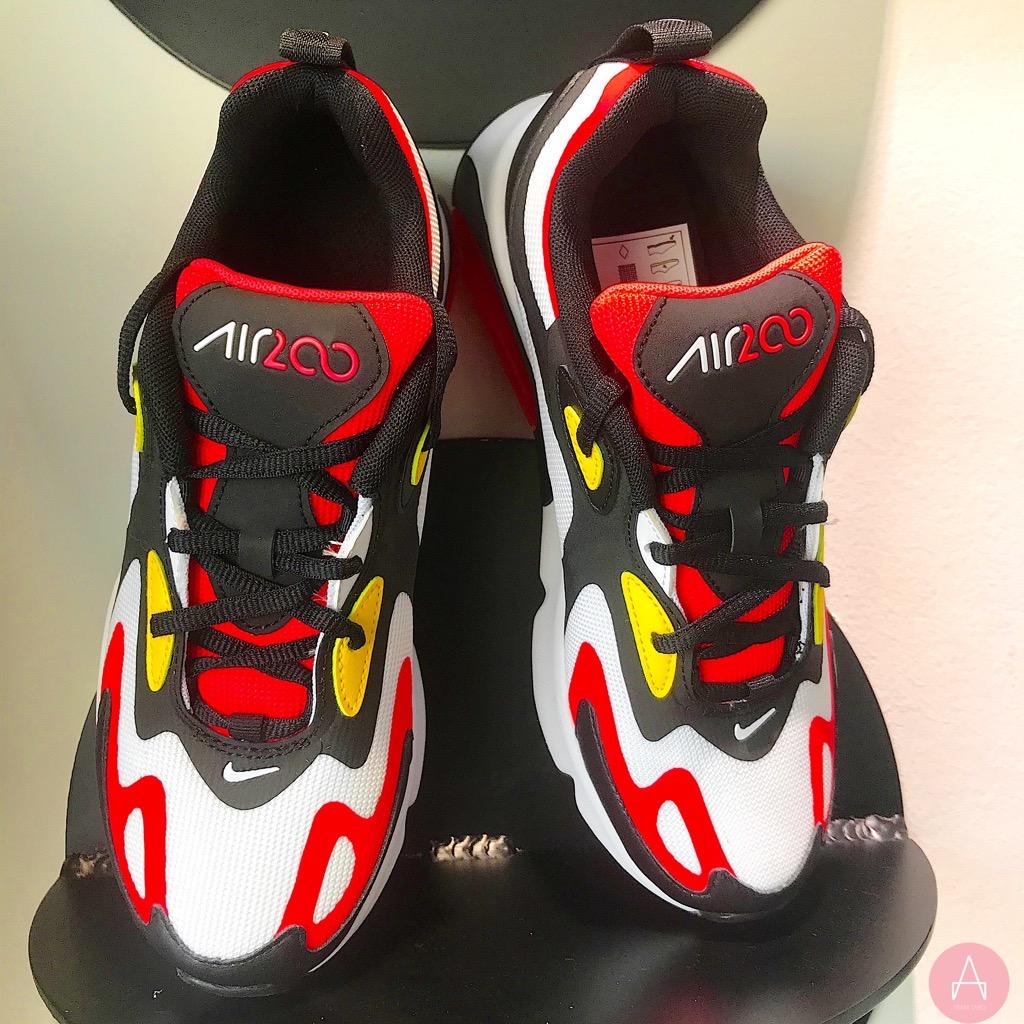 [AT5627-005] K NIKE AIR MAX 200 BLACK RED