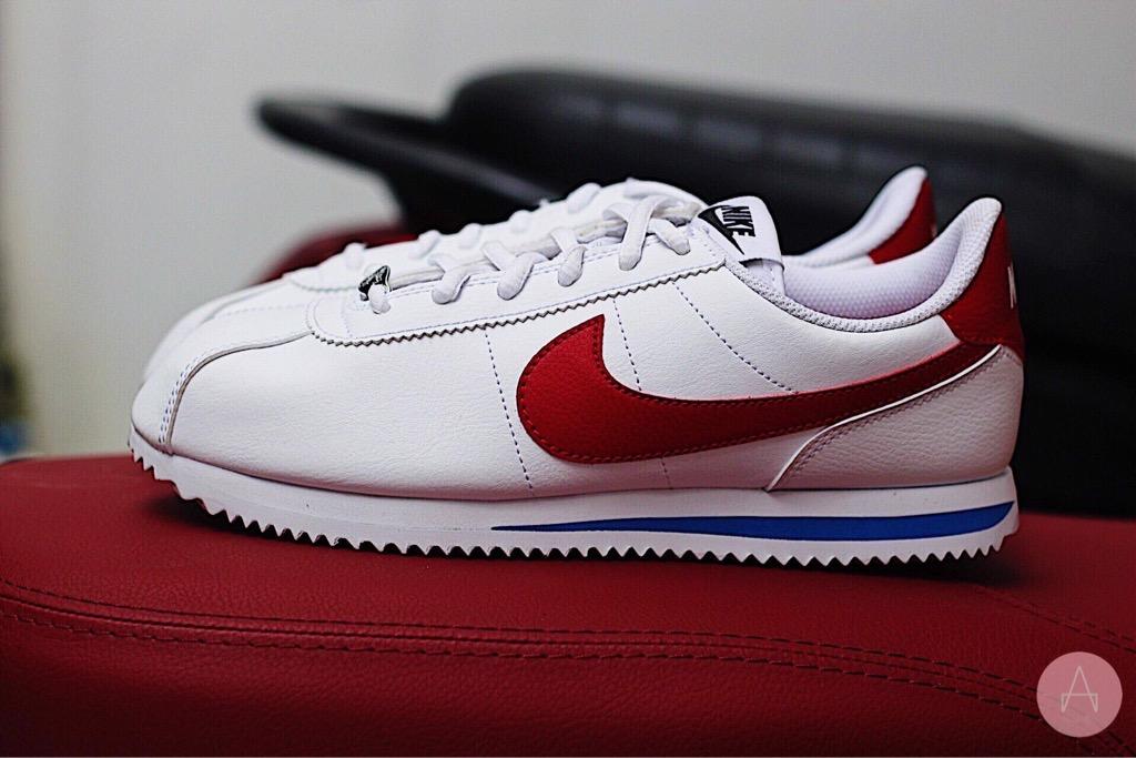 [904764-103] K NIKE CORTEZ BASIC SL WHITE VARSITY RED
